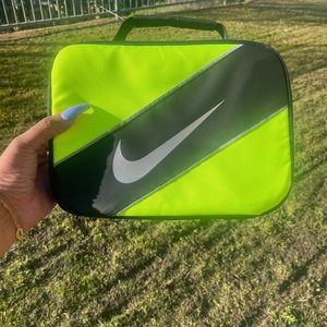 NIKE bright yellow and black lunch tote/cooler